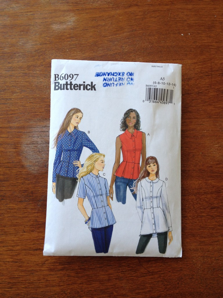 Butterick pattern B6097 View A