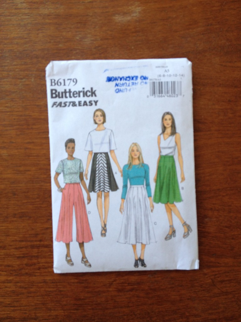 Butterick pattern B6179 skirt view B (cut to length A as I am super short)