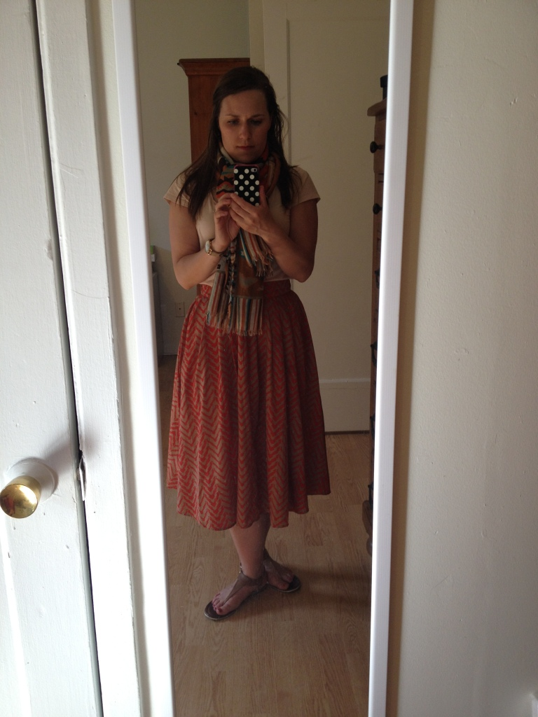 The full skirt, as I wore it to school