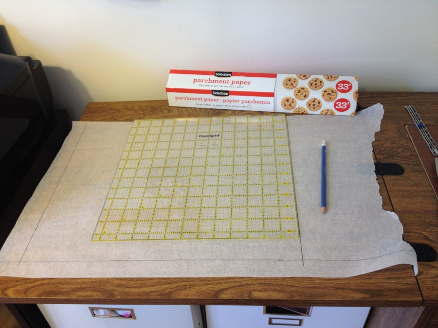 Parchment paper can double as pattern paper. Who knew!